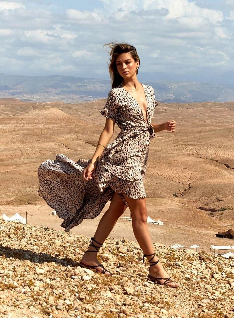 b6556c9051 Detalle Comentarios Preguntas sobre Estampado de leopardo vestidos ...