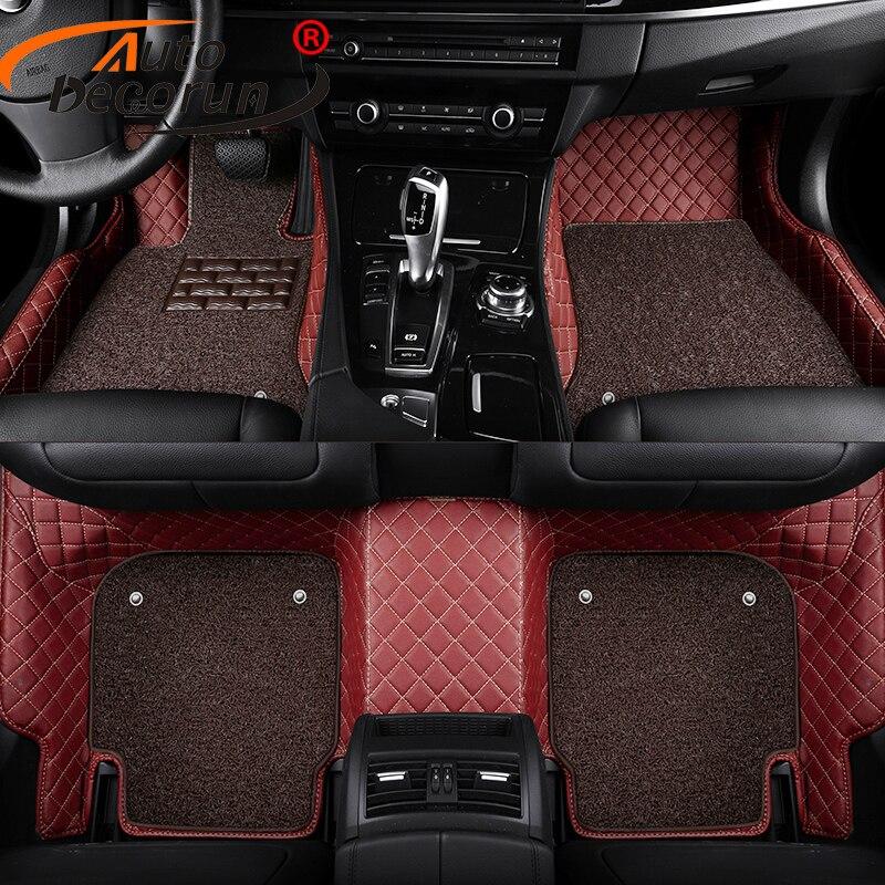 AutoDecorun Custom Car Mats For Mitsubishi Outlander ASX Pajero Sport Grandis Car Floor Carpets Mat Styling Interior Accessories
