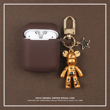 럭셔리 패션 만화 브랜드 곰 미국 캡틴 마블 실리콘 이어폰 헤드셋 케이스 Airpods 1 2 무선 Bluetoot