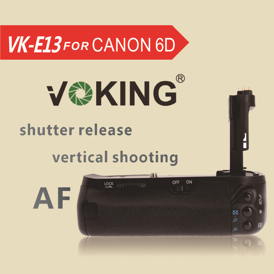 Voking Vertical Battery Grip hoidik VK-E13 Canon 6D jaoks