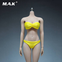 1/6 Scale Womens Blue and Yellow Sexy Swimsuit Clothes Models Bra and Underwear For 12 Inches Female Bodies Accessories