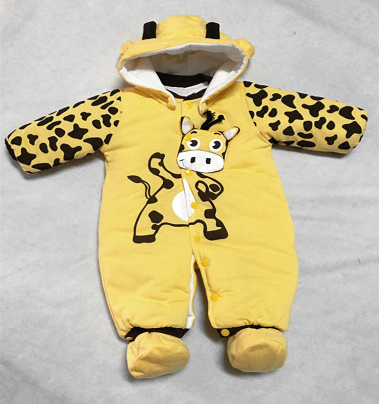 Autumn Winter Baby Rompers Animal style baby thicken Warm brand Hoodies Jumpsuit baby girls boys newborn toddler romper W2 warm thicken baby rompers winter long sleeve organic cotton autumn