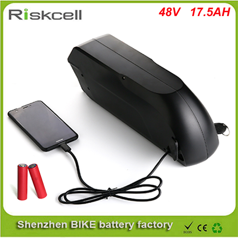 TigerShark lithium ion battery pack 48V 17.5Ah Electric Bike battery with USB fit for 48v 1000W Bafang motor kit For Sanyo Cell powerful 48v electric bike battery pack li ion 48v 50ah 1000w batteries for electric scooter with use panasonic 18650 cell