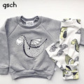 GSCH baby boy clothes sets Long sleeve dinosaur Suit 2pcs(Shirt + Pants) Infant Clothing Outfit 2017 Fashion baby sets bebes