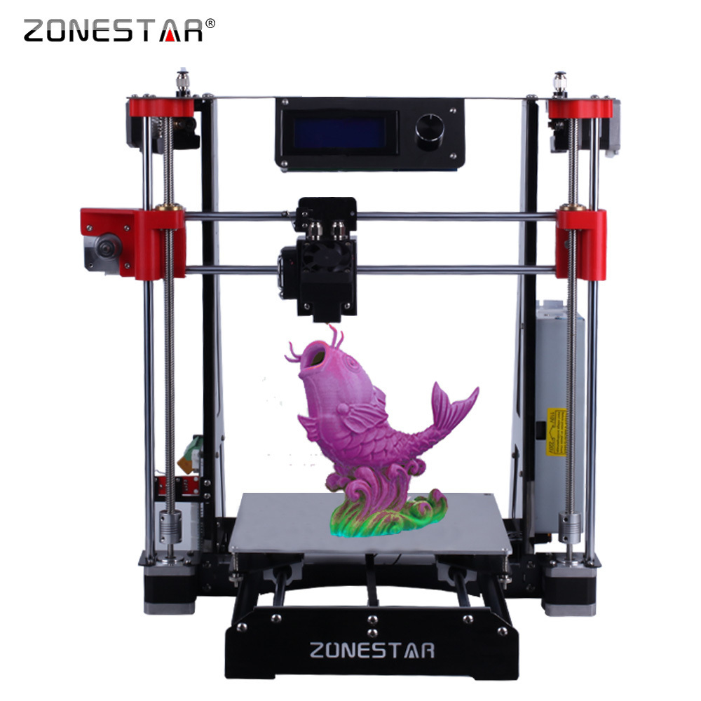 Zonestar Newest Mixed color Full Metal Reprap i3 3D Printer DIY Kit Auto Leveling Easy Assemble SD Card Feeder Free Shipping ship from european warehouse flsun3d 3d printer auto leveling i3 3d printer kit heated bed two rolls filament sd card gift