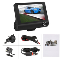 4 inch HD 1080P Car DVR Camera New Dual Lens Vehicle Dash Cam Rear Video G sensor Camera Recorder Night Vision car detector