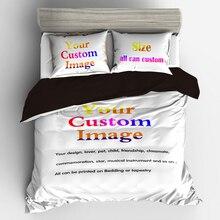 Постельное белье постельное белье дома 3/4 шт Индивидуальные 3D с цифровой печатью, сделанные на заказ Постельное белье. Представить любое произведение искусства, дизайн, изображение