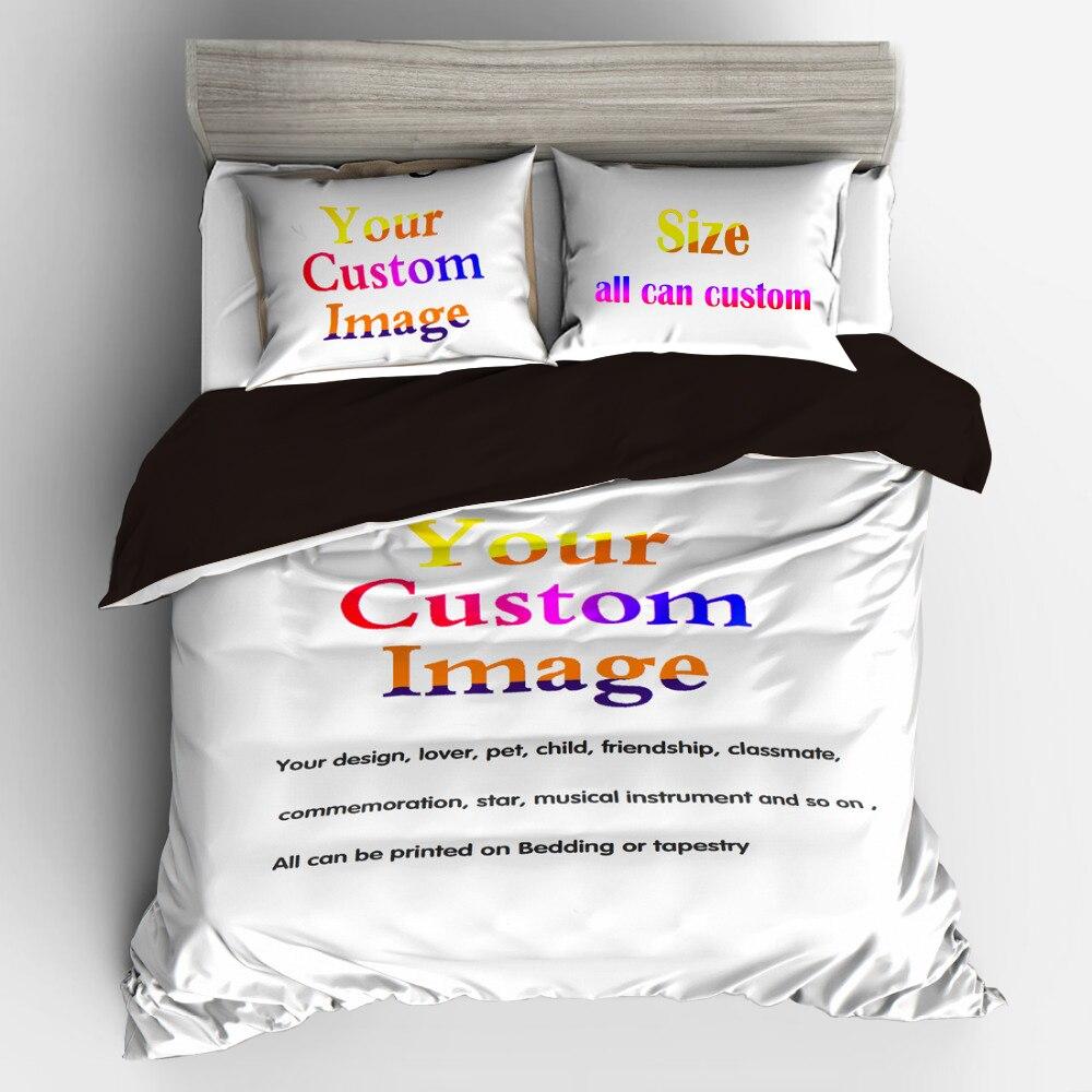 Set di biancheria da letto Copripiumino Casa 3/4 pz Personalizzato 3D Digitale Set di Biancheria Da Letto di Stampa Su Ordinazione. Di inviare Qualsiasi Opera D'arte, Disegno, Immagine