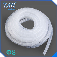 Diameter 8mm spiral bands 10M Cable casing Sleeves Winding pipe Spiral Wrapping PE Beam line tube Roll protective tape