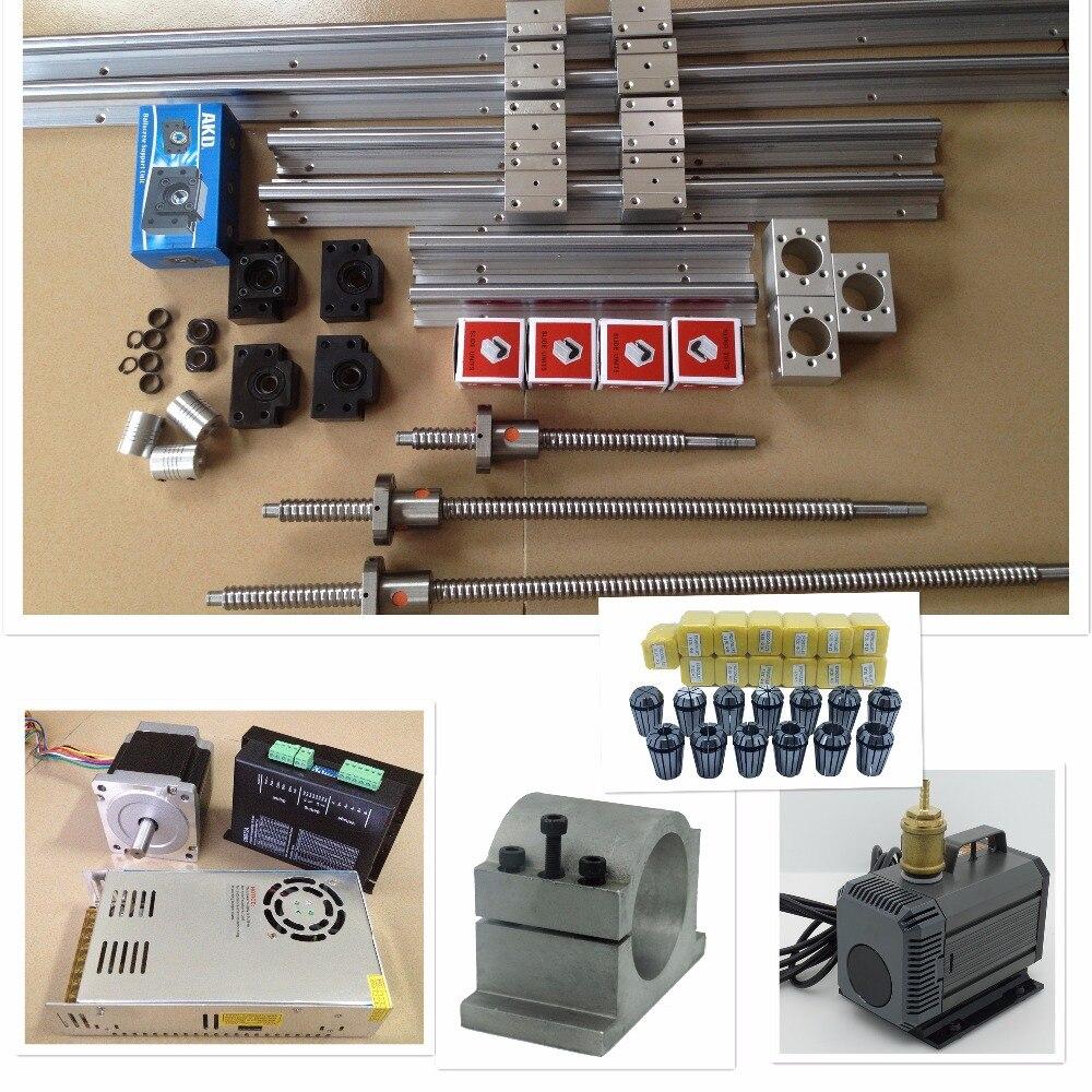 SBR16 600/1200/1400 мм Линейные направляющие комплекты + ШВП SFU1605 комплект + NEMA23 NEMA34 шаговый двигатель + двигатель драйвер