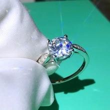 TSHOU64 медное кольцо высокое углерода сверла 2 карат, кольцо Шесть крапанов кольцо ожерелье браслет