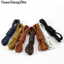 1 Pair Casual Leather Shoelaces Waxed Round shoe laces Shoestring Martin Boots Sport Shoes Cord Ropes 60/90/120/150cm P4 цена 2017