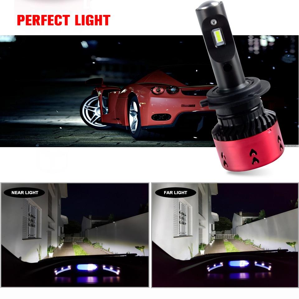 Foxcncar Led H4 H7 H11 CSP Led Car Headlight Bulb Kit 16000LM 70W H7 Led DC 12V 9005 9006 9007 6500K Auto Front Lamp Car Styling (16)