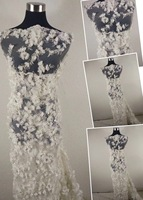 3d handmade Lace Fabric 2018 High Quality Lace Tulle Africa Lace For Women Lace Fabric With beads