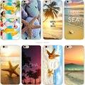 Caja del teléfono estrella de mar Playa paisaje claro suave de silicona TPU cubierta de la caja fundas coque para iphone 7 7 plus 5S se 6 6 s 6 más 6 Splus