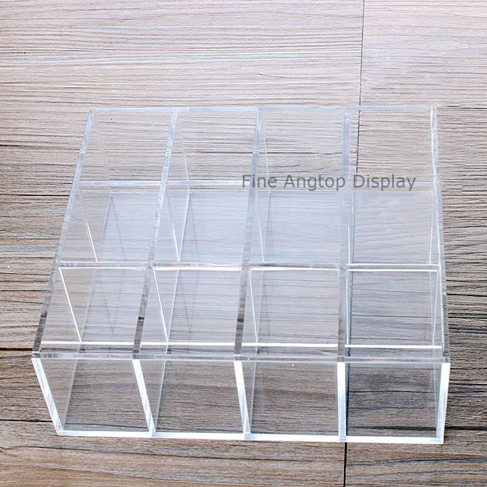 Acrylic cosmetic lipstick organizer tray jewelry display stand holder 12 Spaces sacred spaces