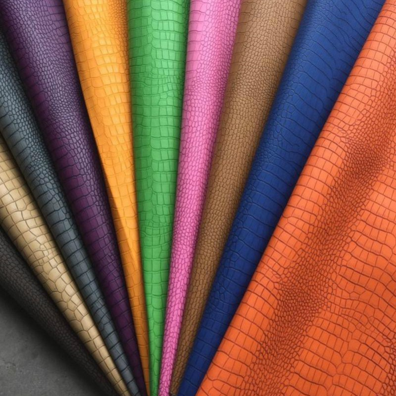 NEW Faux PU Leather Fabrics 0.7mm Thickness Synthetic Leather ...