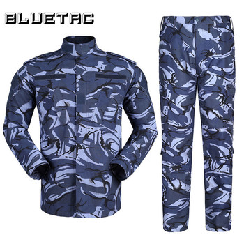 Military Camo Tactical Suit Men Hunting Combat BDU Uniform Jacket Shirt & Pants with Belt for Shooting Hunting War Game Army