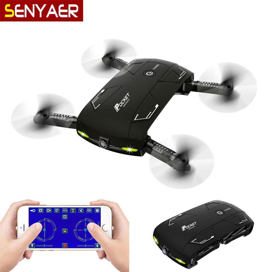 Pocket Selfie Mini Drone Bayang X20 Fold Portable Photography Wifi FPV With 0.3MP Camera Phone Control RC Drones RTF Helicopter