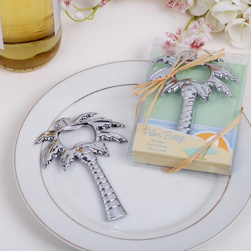 Free Shipping Coconut Tree Bottle Opener Wedding Favor And Gifts