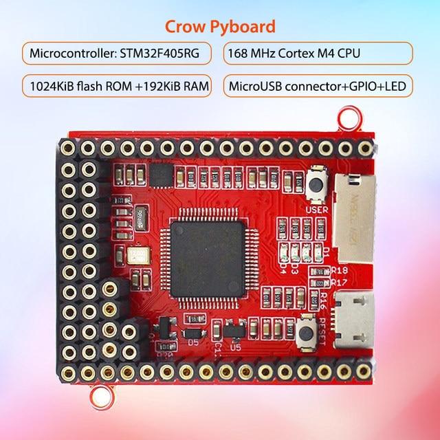 Placa de núcleo Elecrow para MicroPython Crow Pyboard Placa de desarrollo STM32F405RG para Pyboard Python módulo de aprendizaje microcontrolador