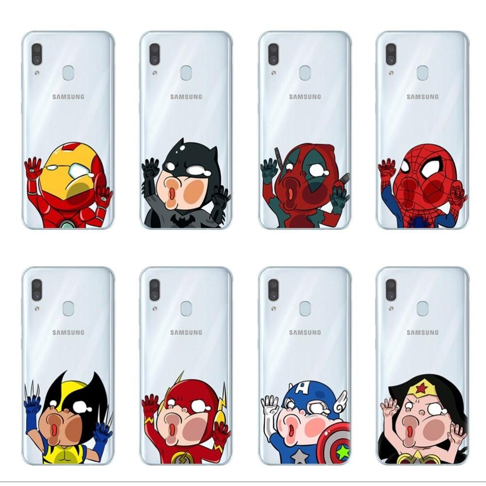 Marvel Avengers Super Heros Phone Case For Coque Samsung Galaxy A9 A7 2018 A10 A20 A30 A40 A50 A70 2019 Soft Silicone Cover Capa