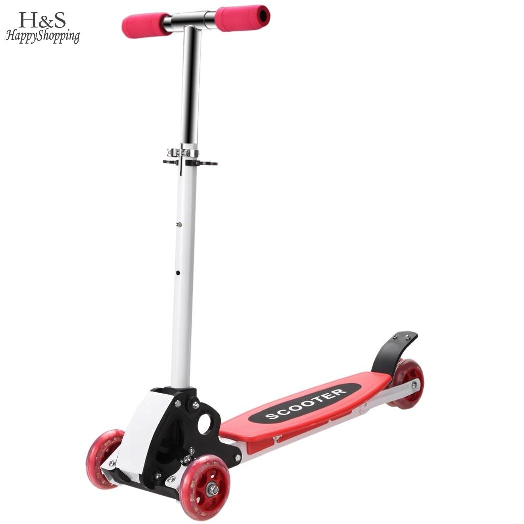 Prix pour Planche Scooter Floding/Réglable Trottinette pour les Enfants Jouets 4 PU Grandes Roues Pro Scooters 22