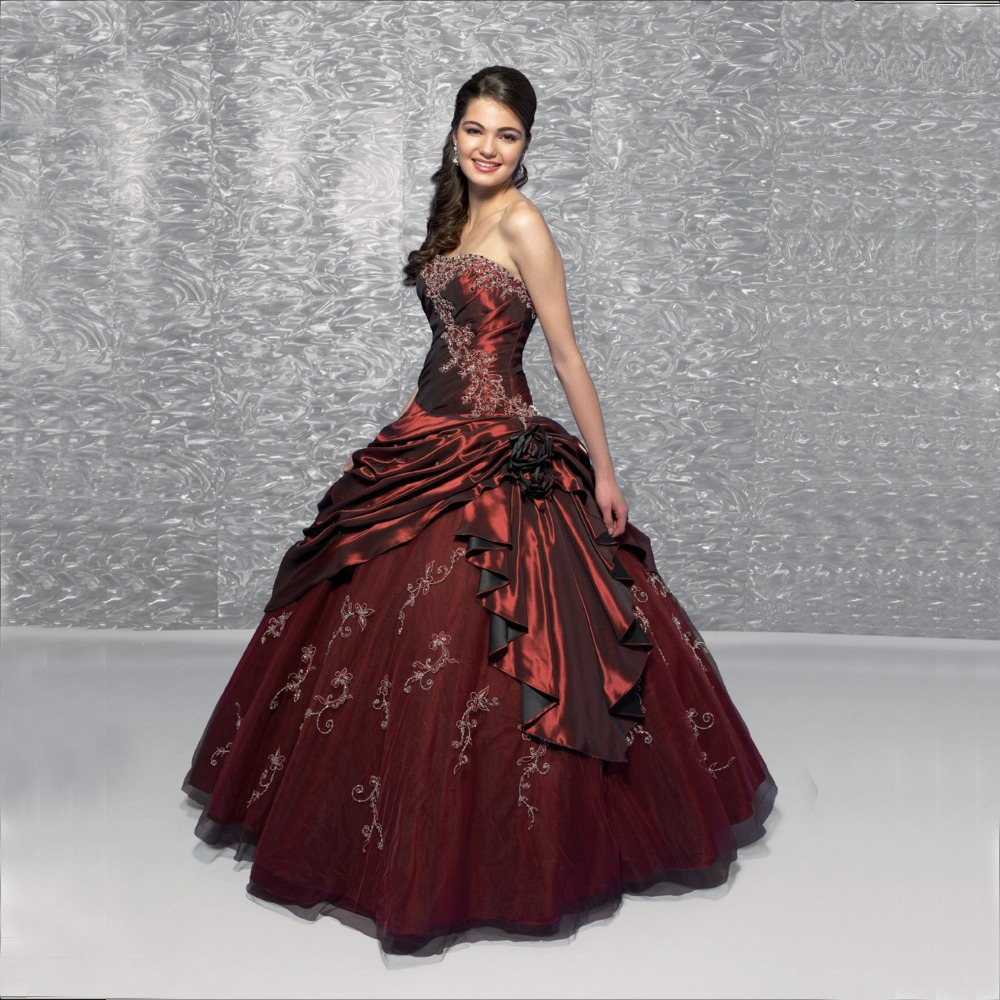 The Best Selling New Arrival Ball Gown Retail Burgundy Quinceanera ...