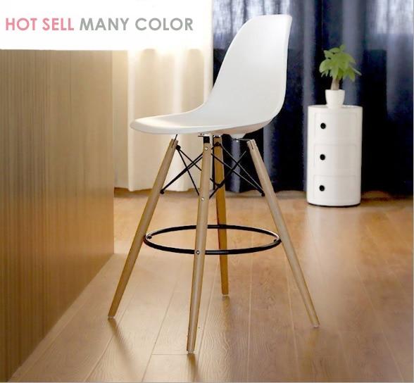 SEAT HEIGHT 69CM FASHION BAR CHAIR STOOL PLASTIC COUNTER BAR STOOL WOODEN PLASTIC STOOL lOFT CAFE HIGH STOOL CHAIR MODERN DESIGN