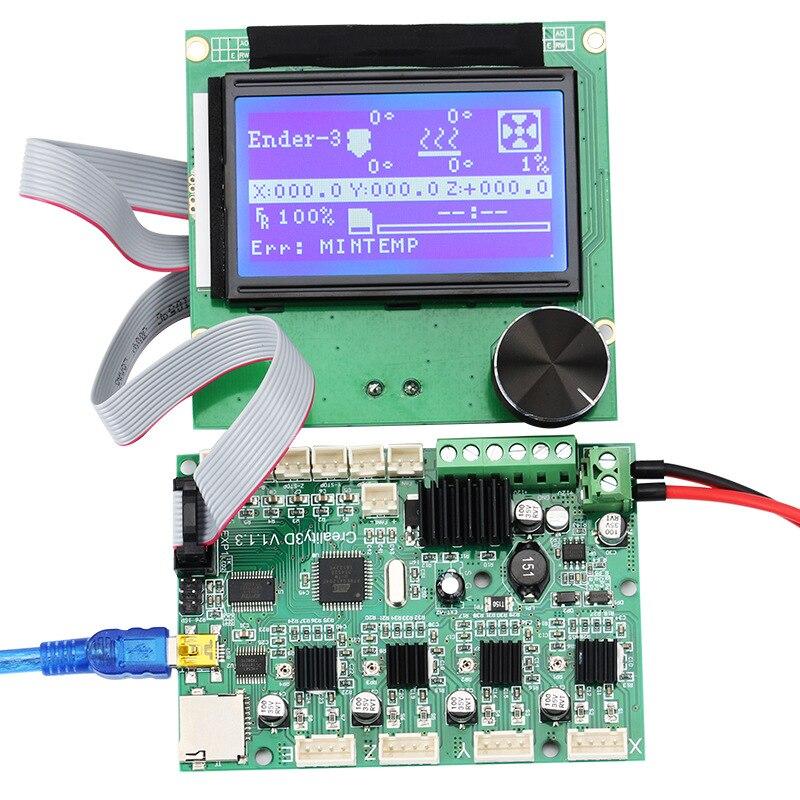 Créalité 3D Ender-3 CR-10 CR-10S 24 V Carte Mère/carte mère + 12864 LCD Affichage Câbles Pour Ender 3 cr10 cr10s 3D Imprimantes BRICOLAGE pièces