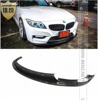 Одежда высшего качества E89 Z4 3D стиль углеродного Fibeutor переднего бампера Splitter Спойлер фартук для губ подходит: 2009 2013 BMW Z4 M TECH bumpe