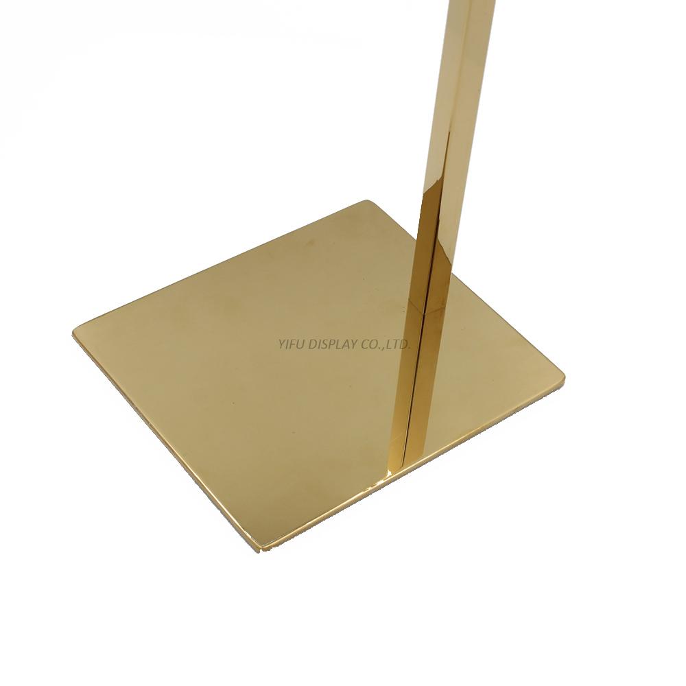 polishe gold shoe display (4)