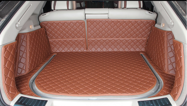 Customized full covered Special car trunk mats for Cadillac SRX 2010 2015 waterproof cargo rugs boot carpets for SRX