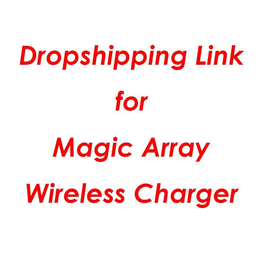 Universal La magia Array cargador inalámbrico Qi inalámbrico rápido de carga rápida Pad para iPhone X XS X 8 Samsung Xiaomi Redmi Huawei honor