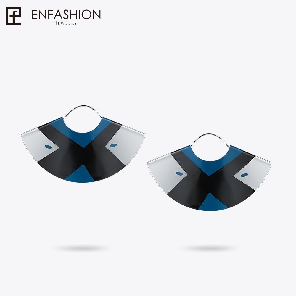 Enfashion Lacquer Art Series Love Knot Drop Earrings Fan Shape Big Silver color Earrings for Women Earings oorbellen EBQ18LA52 цена