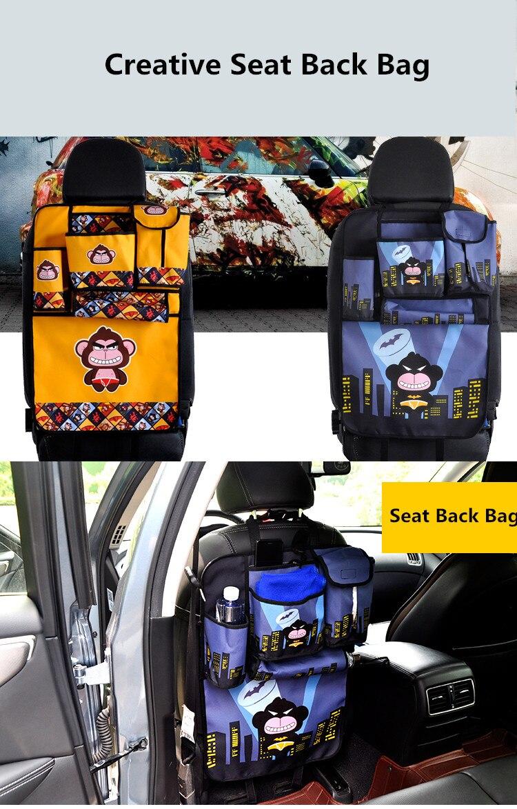 4566fcac8e ARTICLE ----- Bande dessinée siège de voiture arrière Stoage sacs téléphone  livre eau tasse organisateur banquette arrière protecteur sacs pour enfants  ...