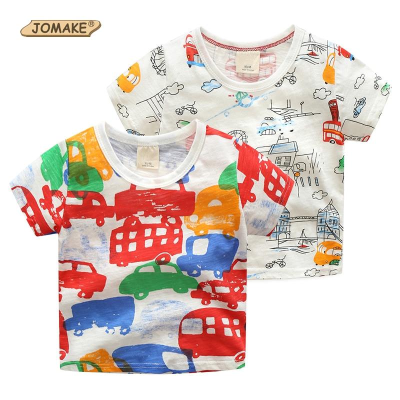 Cartoon Car Graffiti Boys T-shirt Summer 2017 Casual Baby Boy Clothes Cute Short Sleeve Cotton Costume For Kids Toddler Clothing