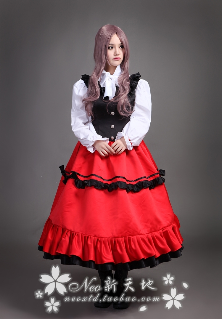 Axis Powers Hetalia Hungary Cosplay Costume Lolita COS Halloween ...