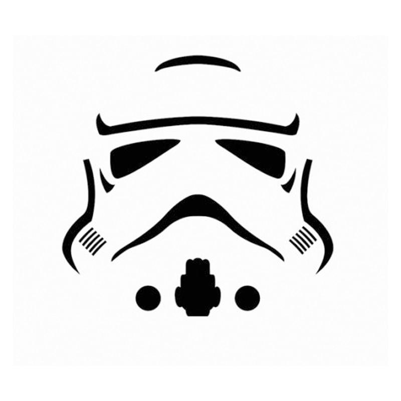 HotMeiNi Storm Trooper Sticker Decal Star Wars Car Vinyl Decal Cartoon Oem Not Packaged Creative Stickers Stickers