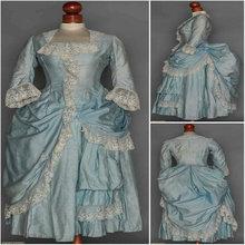 2017 New!Blue 19 Century Victorian Dress1860S Scarlett Civil War Southern Belle dress Cosplay Halloween dresses US4-36 C-911