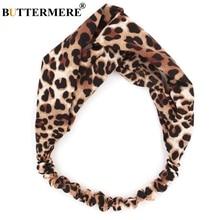 BUTTERMERE Ladies Hair Accessories Women Leopard Print Headband Female Spring Summer Band Fashion 2019 New Headwear