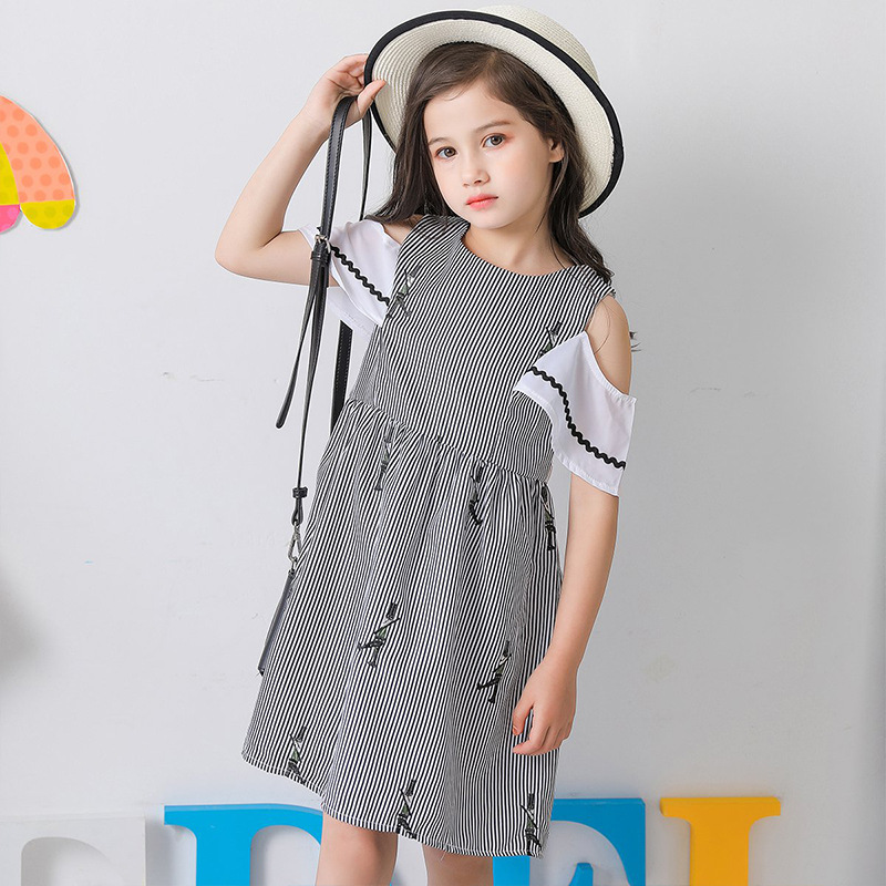 Girl Printed Dresses Summer Fashion European and American Girls Party wholesale dropshipping childrens dresses