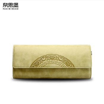 NAISIBAO 2020 new top cowhide women Genuine Leather bag Embossed Flower bag famous brand fashion Chain women leather shouler bag