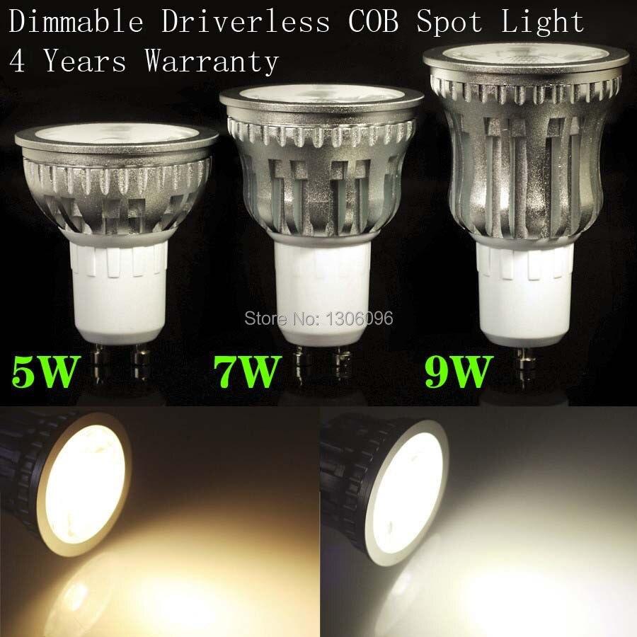 5W/7W/9W Dimmable led spot light GU10 Cool White/Warm White High Brightness COB LED Spot Light dimmer кисть nouba kabuki brush 1 шт