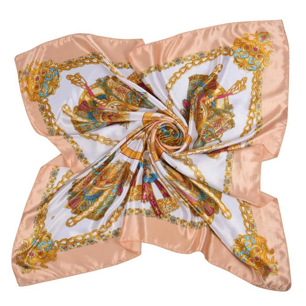 9d413bb78c48a ... Silk Women Fashion Shawl Large Blanket Scarves Foulard Femme Hot Large  Satin Square Silk Feeling Hair ...