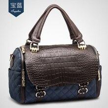Chenxiaobo 2016กระเป๋าหนังแท้ของผู้หญิงกระเป๋าสะพายหญิงDimondลายสก๊อตลายจระเข้กระเป๋าหนังวัวM508