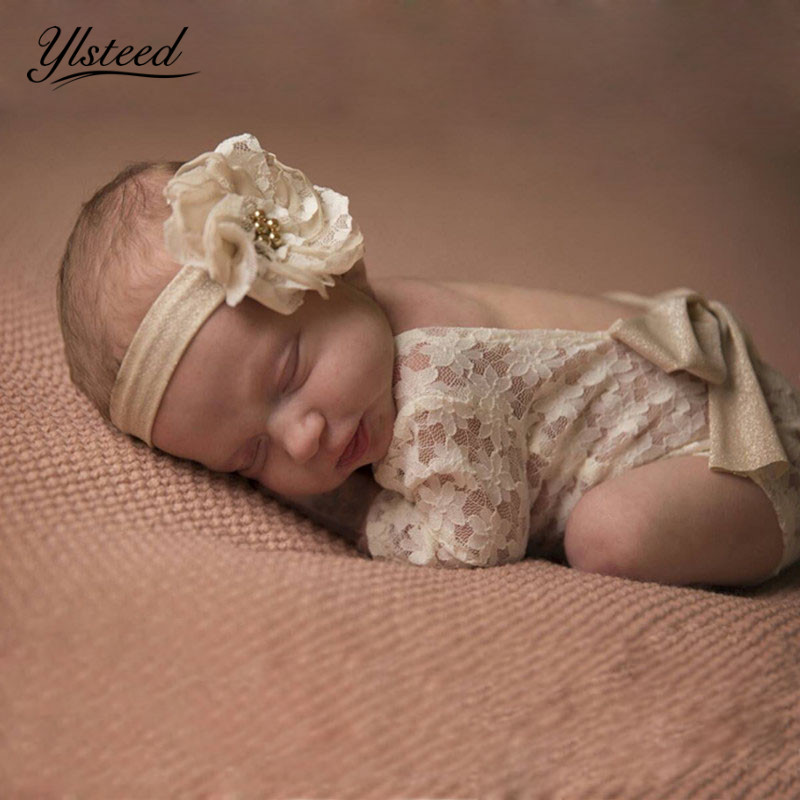 Newborn Bowknot Lace Romper Infant Photography Props Newborn Costume Outfit Baby Photography Accessories Baby Photo Props baby halloween vampire costume boys outfit romper photo props toddler hoodies clothing for kids