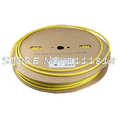 Yellow Sleeving 6mm Dia. Heat Shrinkable Shrink Tubing 100M 6mm dia ratio 2 1 heat shrinkable tube shrink tubing 10m blue
