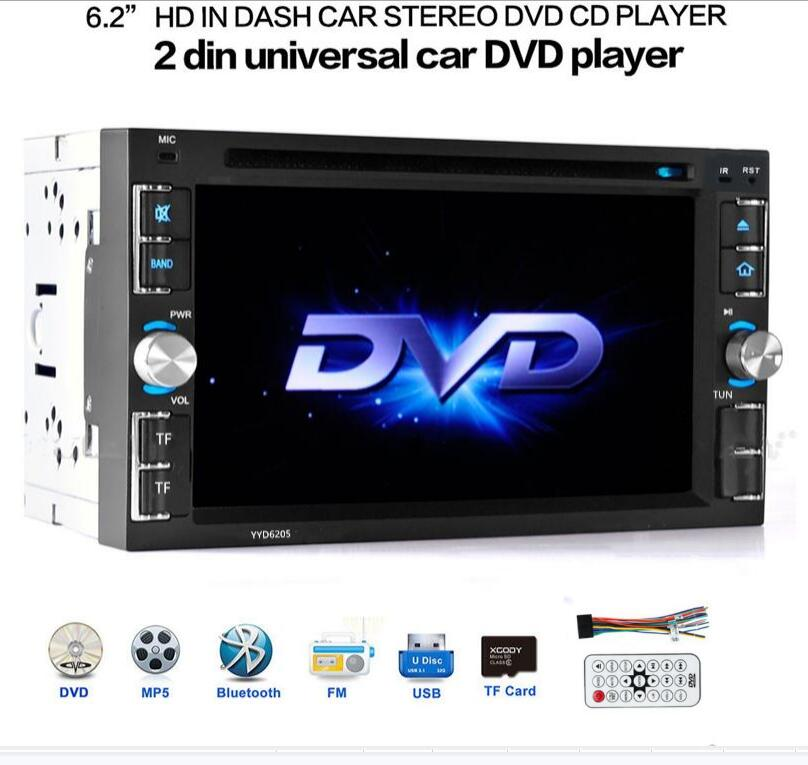 6.2 Inch 6205 2Din Car Stereo DVD CD MP3 Player In Dash Bluetooth For Ipod Auto HD TV Radio Video Audio Camera Parking