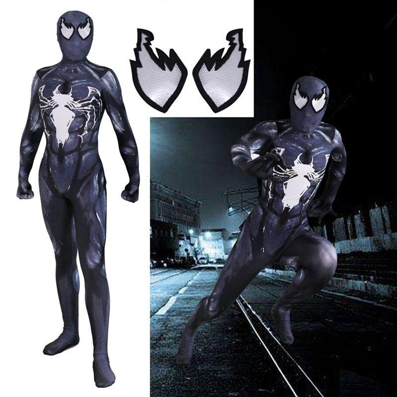 Attent Nieuwe Spiderman Venom Symbiont Super Hero Cosplay Kostuum Volwassen Kind Halloween Carnaval Party Panty Jumpsuit Masker Set Prijsafspraken Volgens Kwaliteit Van Producten